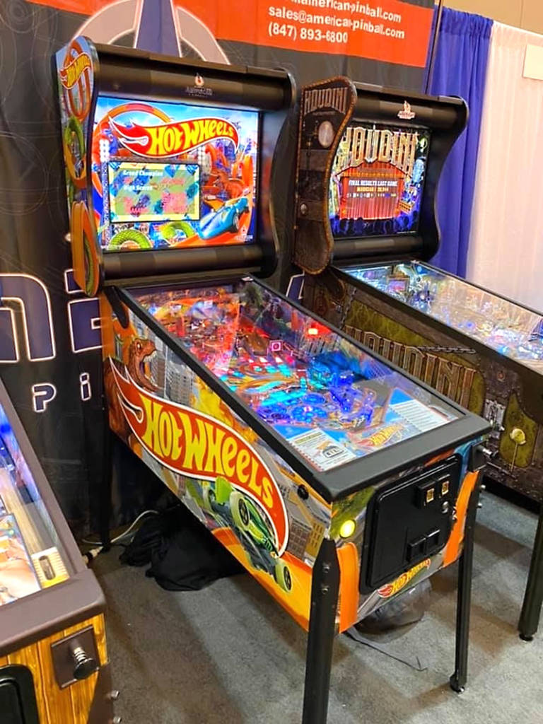 The American Pinball stand at Amusement Expo