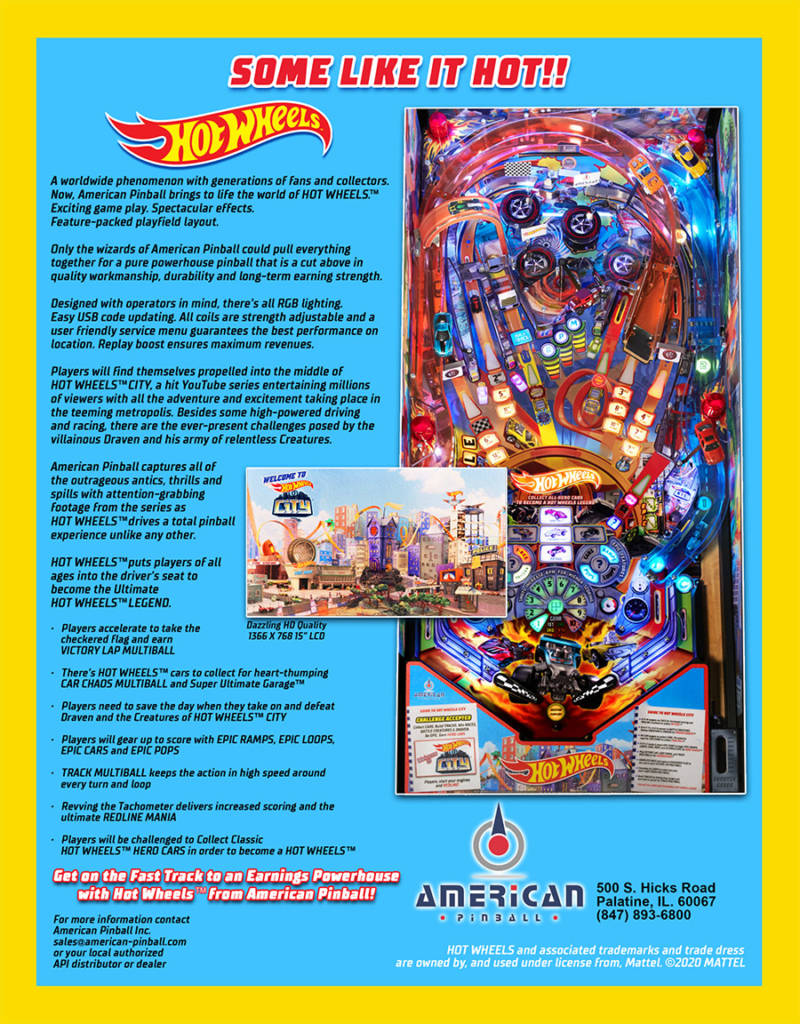 The back of the Hot Wheels flyer
