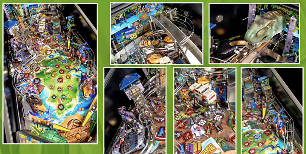 Playfield shots from the Pro model