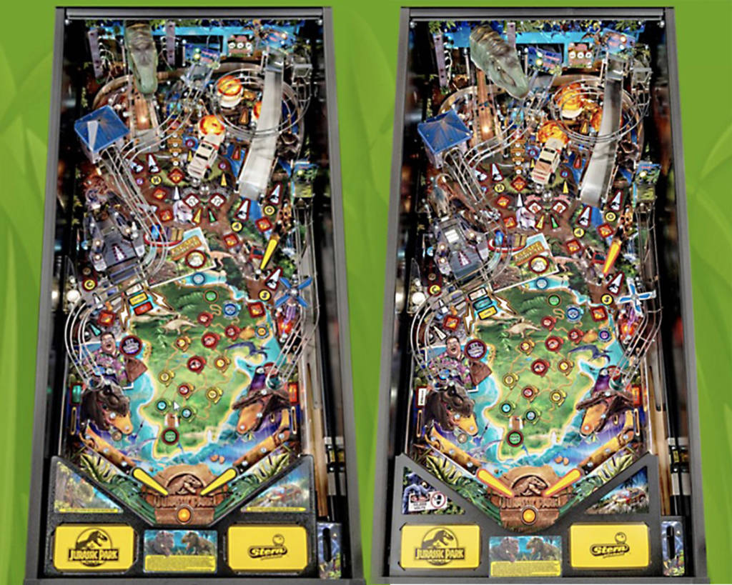 The Pro and Premium Jurassic Park playfields