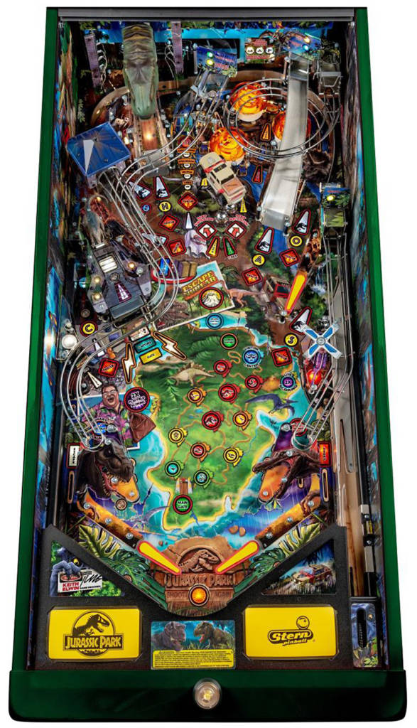 The Limited Edition version's playfield