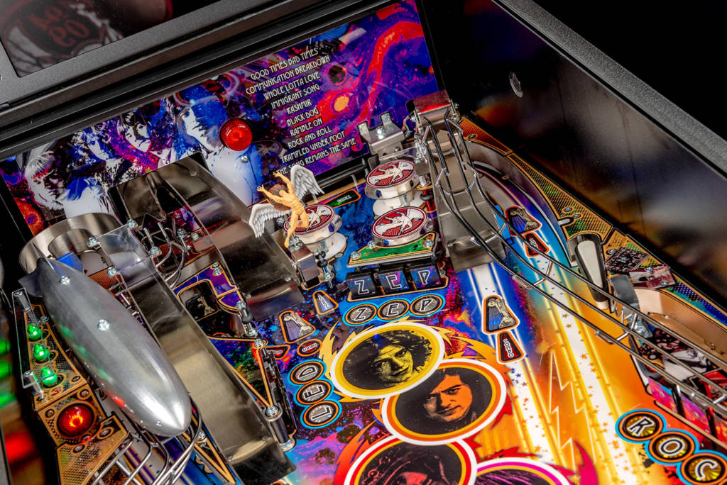 The top right of the playfield