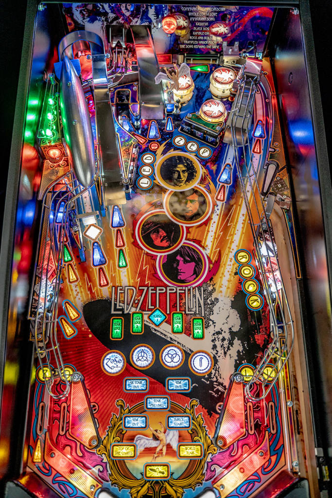 The Pro playfield when illuminated