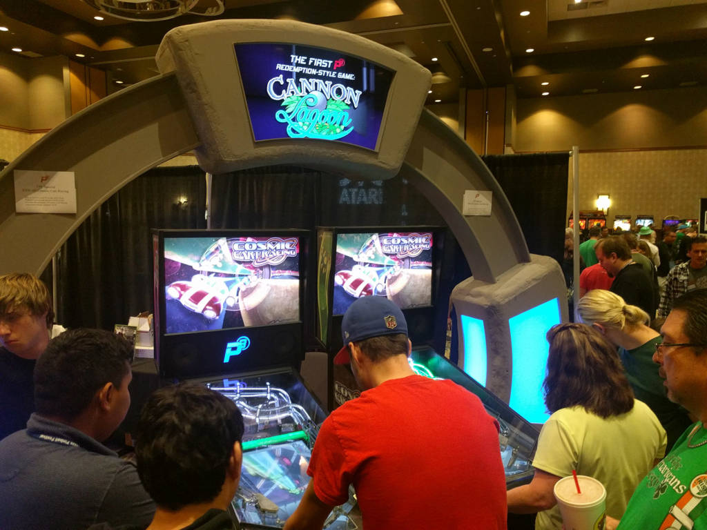 The Multimorphic stand at the Texas Pinball Festival 2018