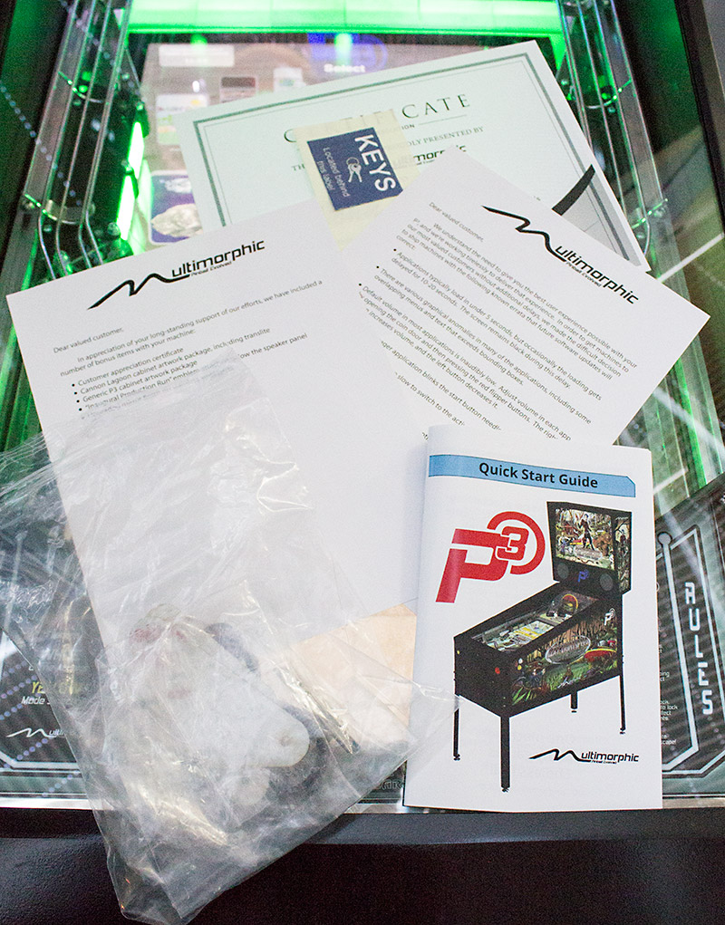 The included paperwork and goodie bag