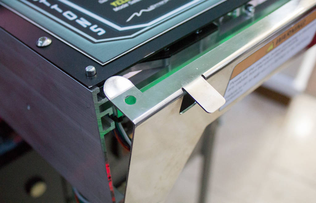 Opening the front panel