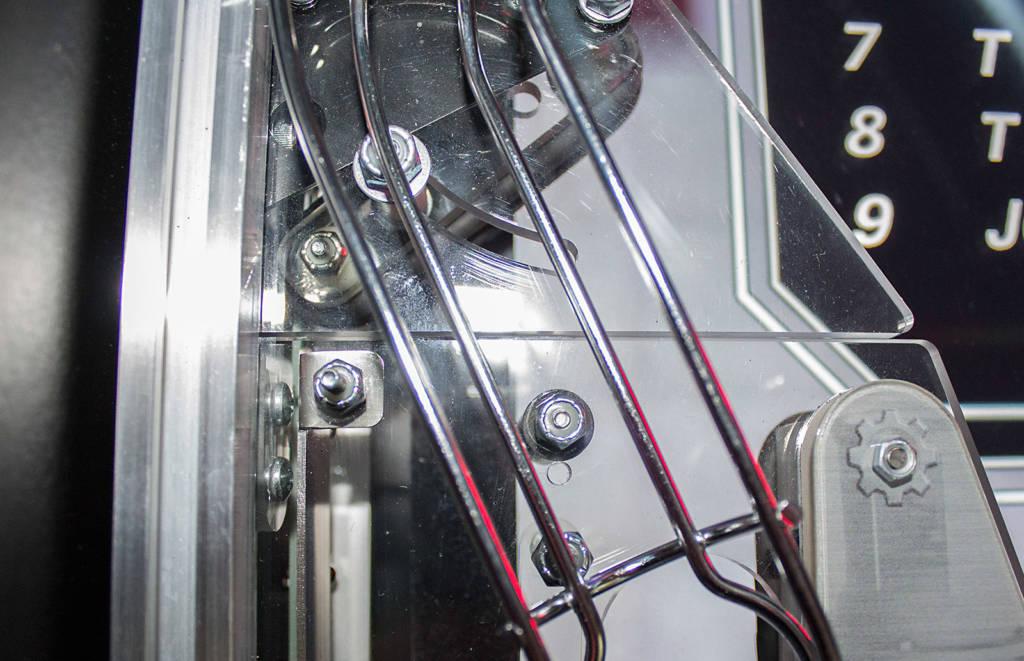 The left outlane width adjuster