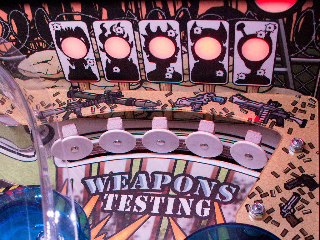 The Weapons Testing target lights