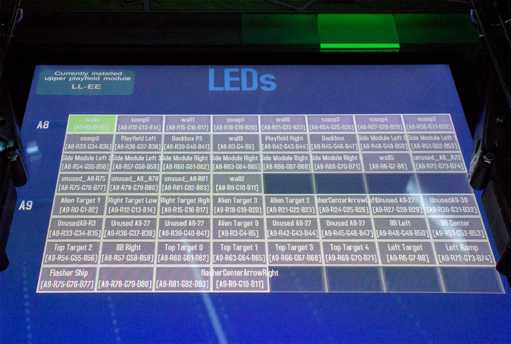 The LED test page
