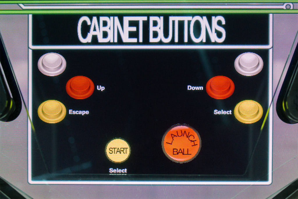 The flipper and cabinet front button controls