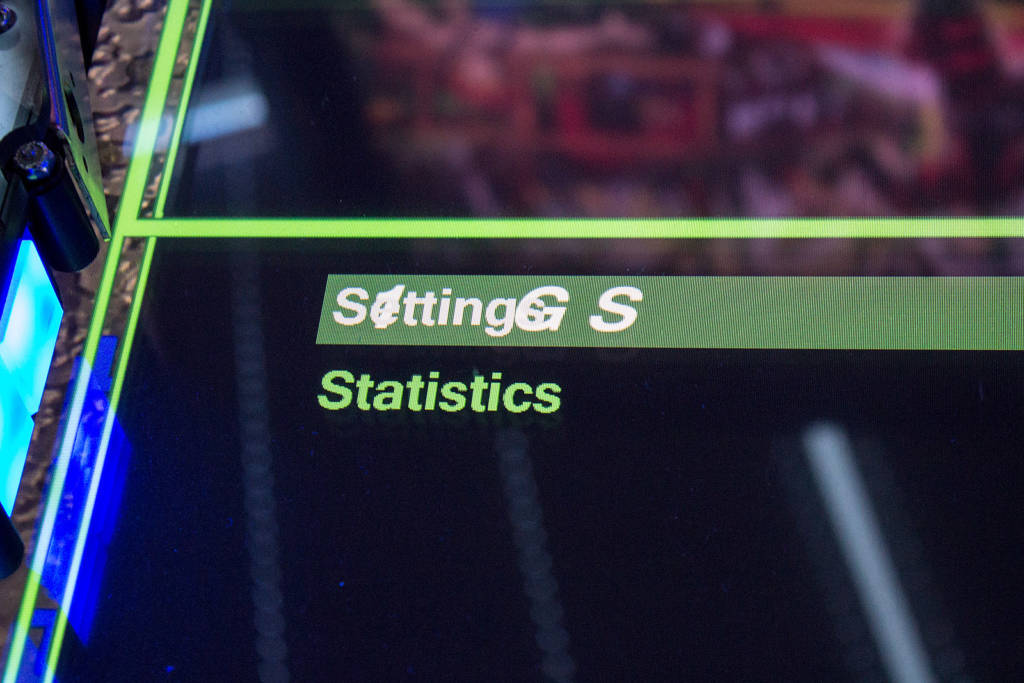 The settings or statistics menu choice