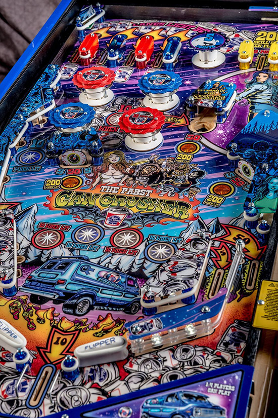 The bottom right of the playfield