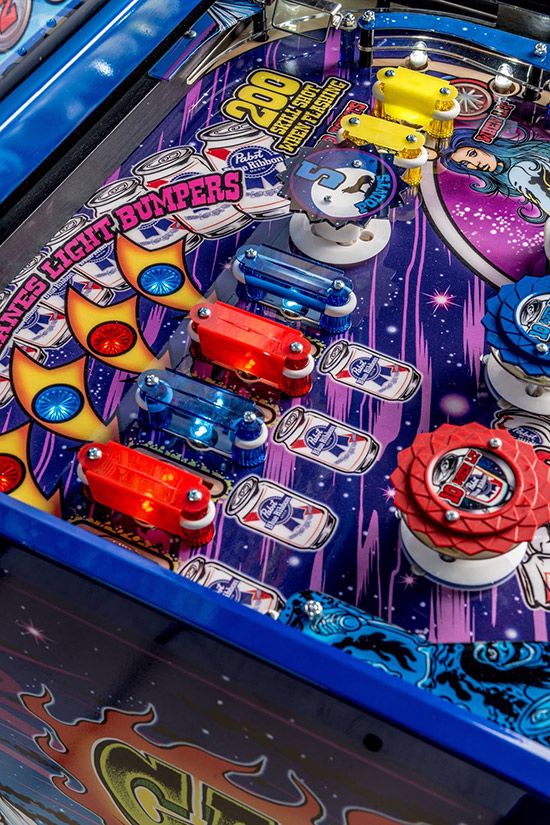 The top of the playfield