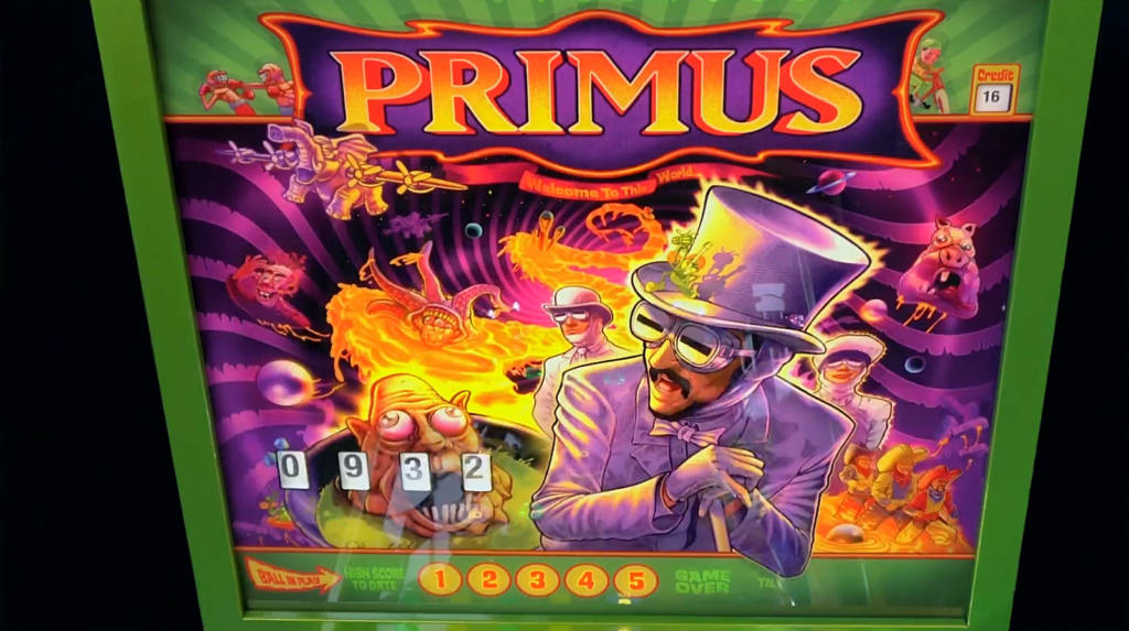 The Primus backglass artwork