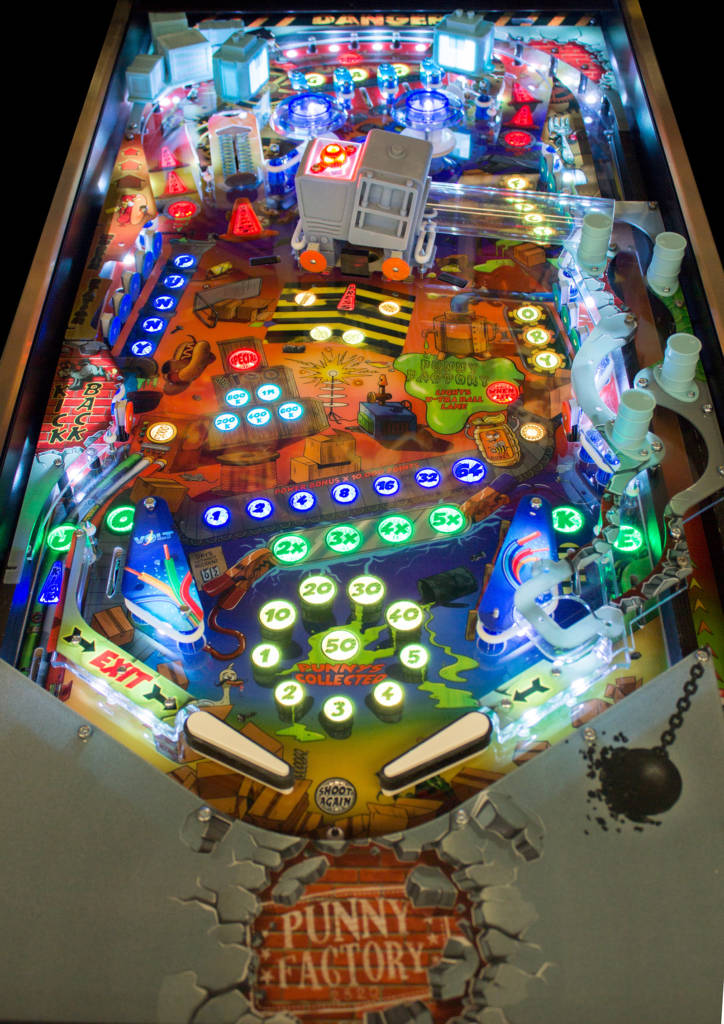 The Punny Factory playfield design