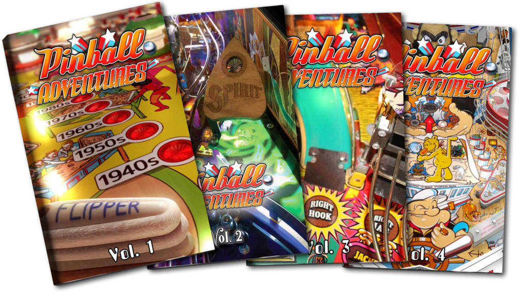 The first four volumes of Pinball Adventures