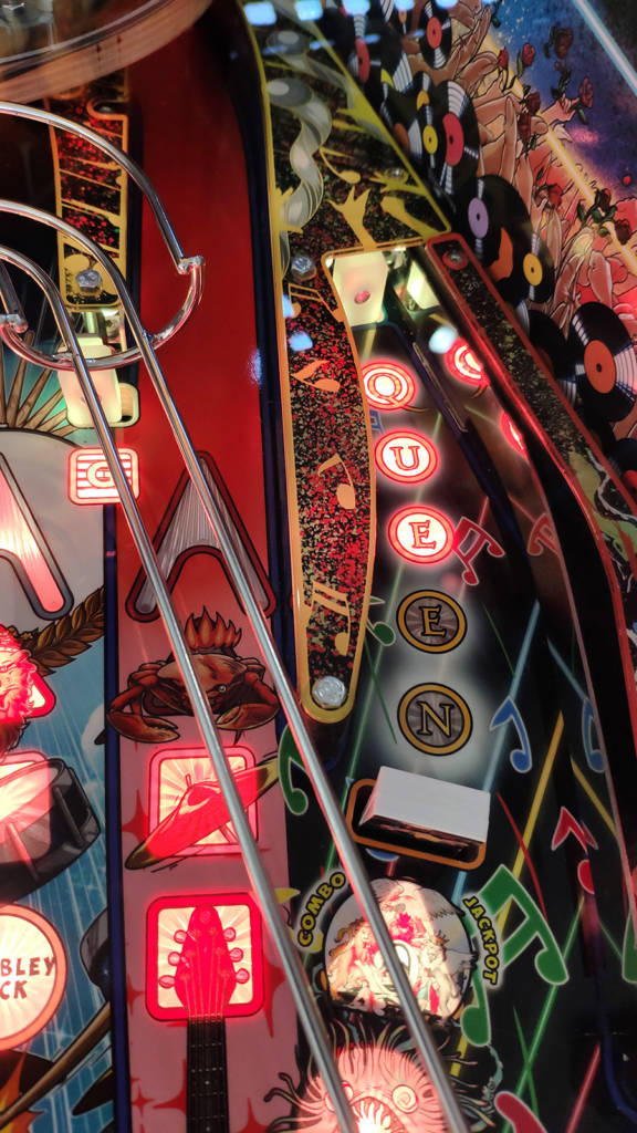 The right side of the playfield