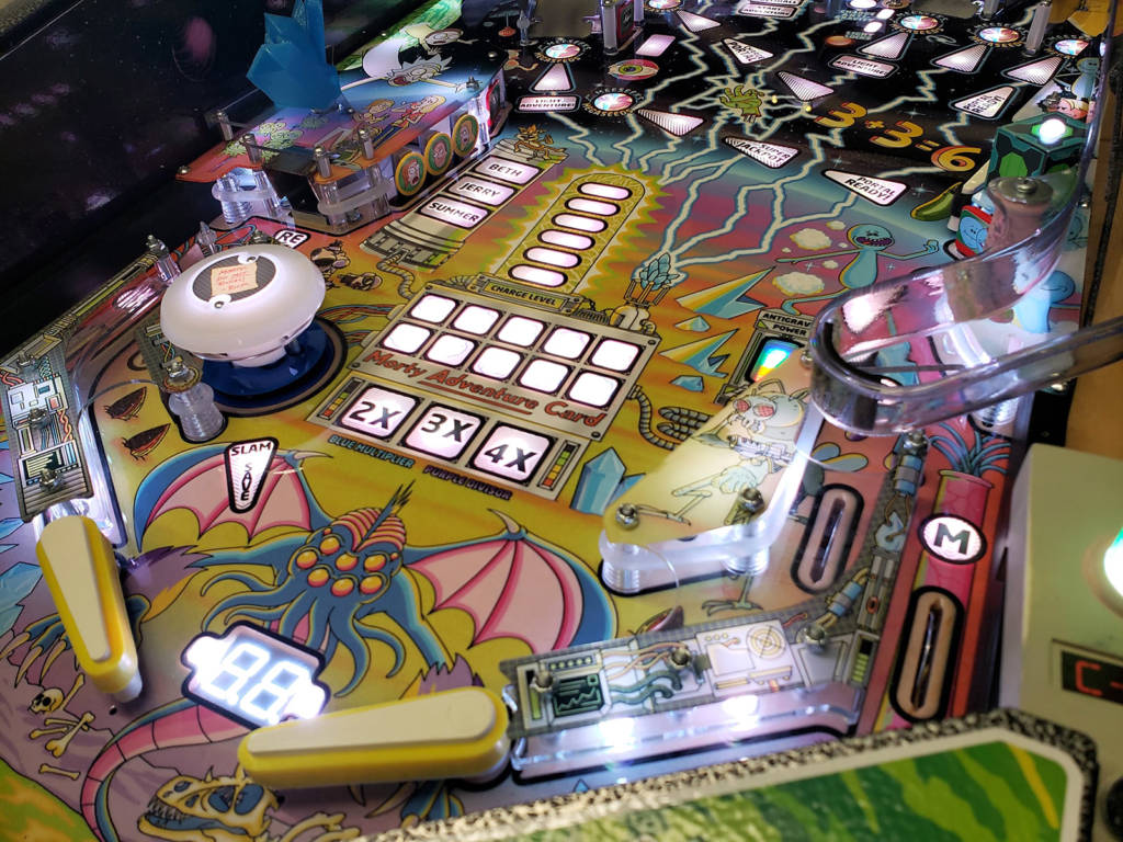 The lower part of the playfield