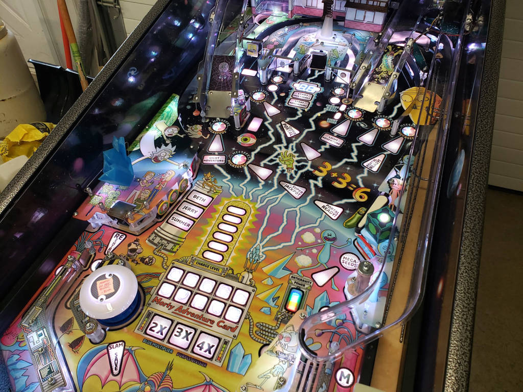 The whole Rick and Morty playfield