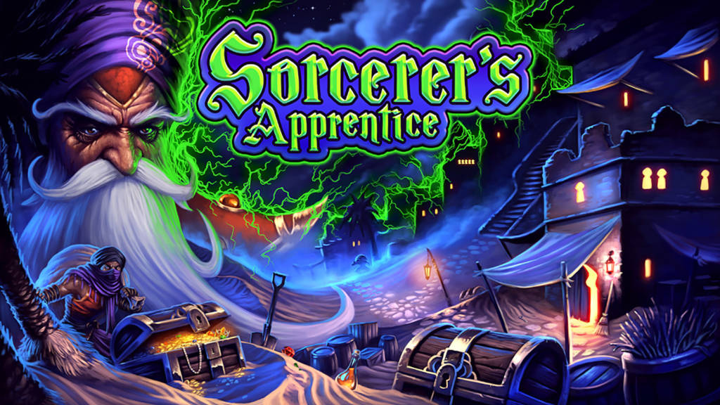 The translite image for Sorcerer's Apprentice