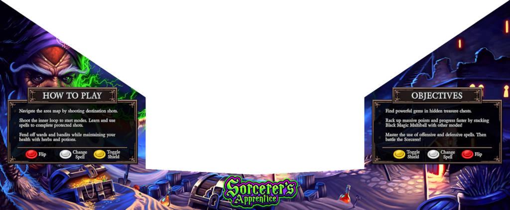 The bottom apron artwork for Sorcerer's Apprentice