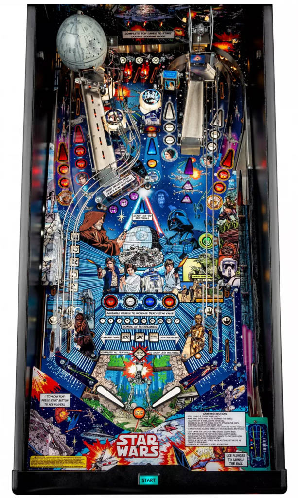 The Comic Art Pin's playfield