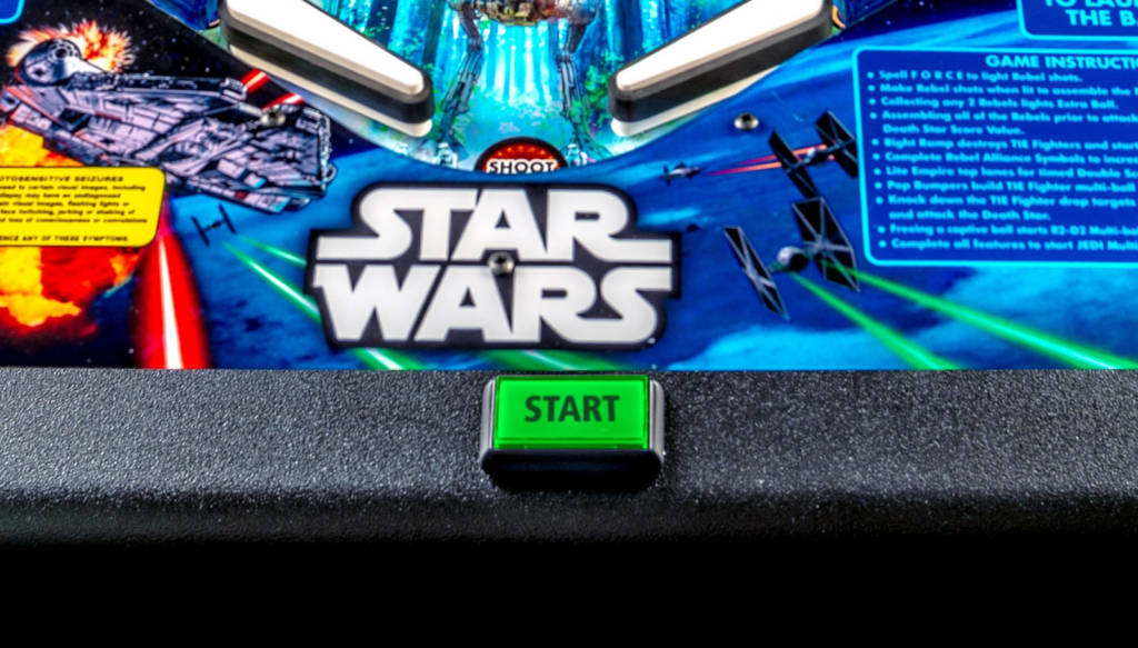 The game's lock bar and start button