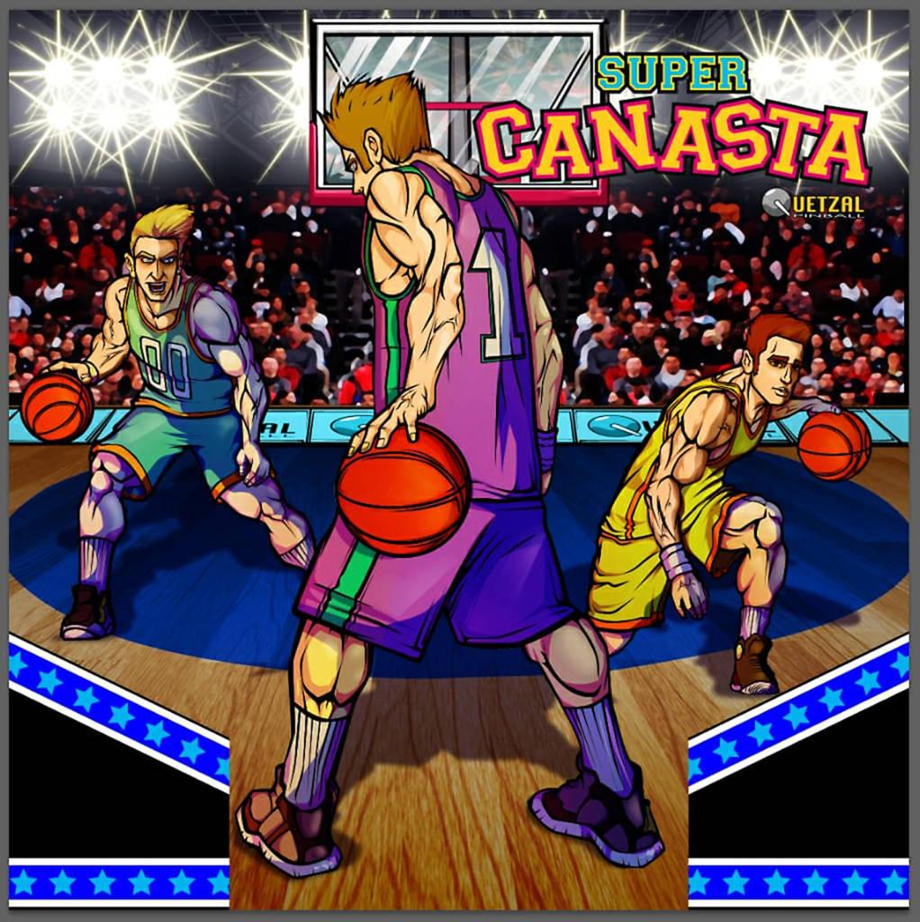 The Super Canasta backbox artwork