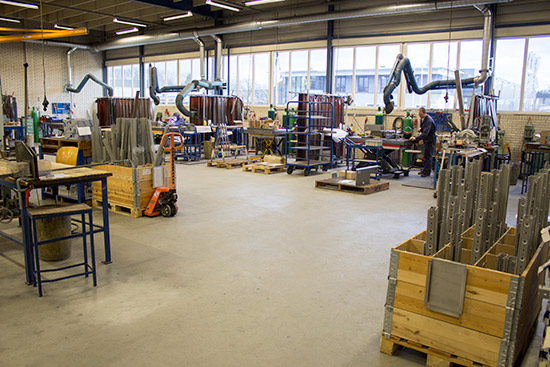 The welding area