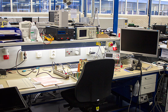 The electronics manufacturing area