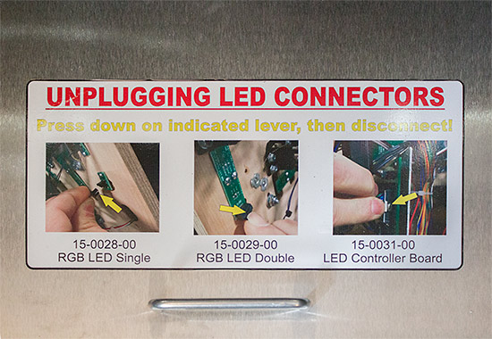 How to disconnect the LED boards