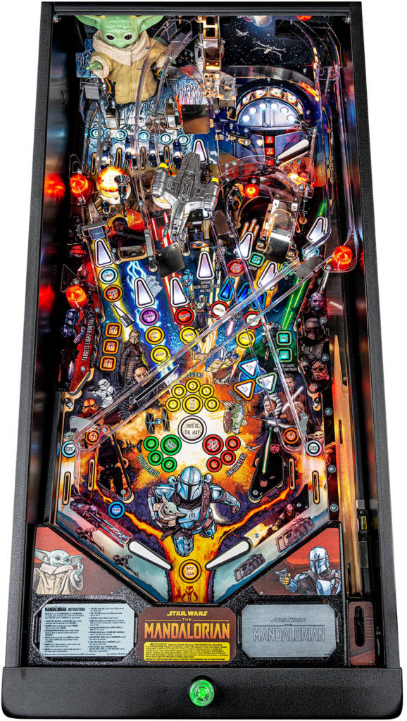 The Pro model's playfield