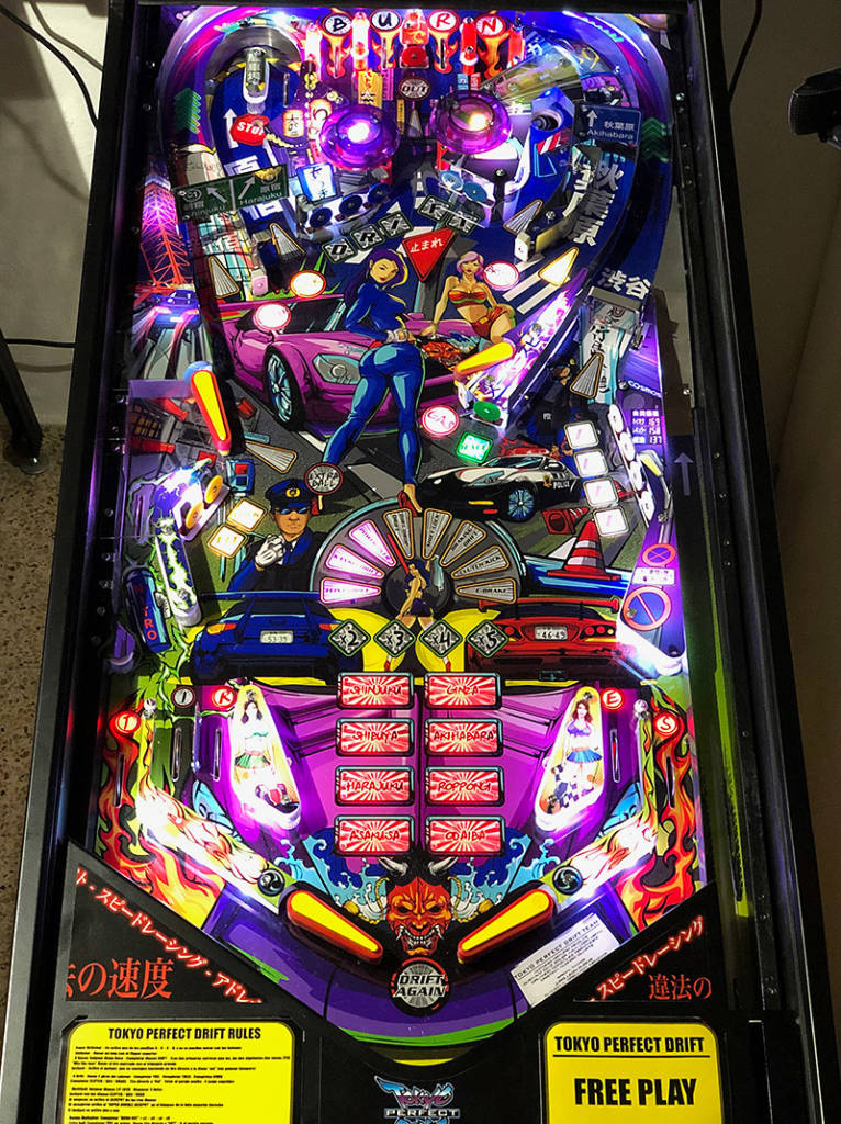 The completed prototype playfield