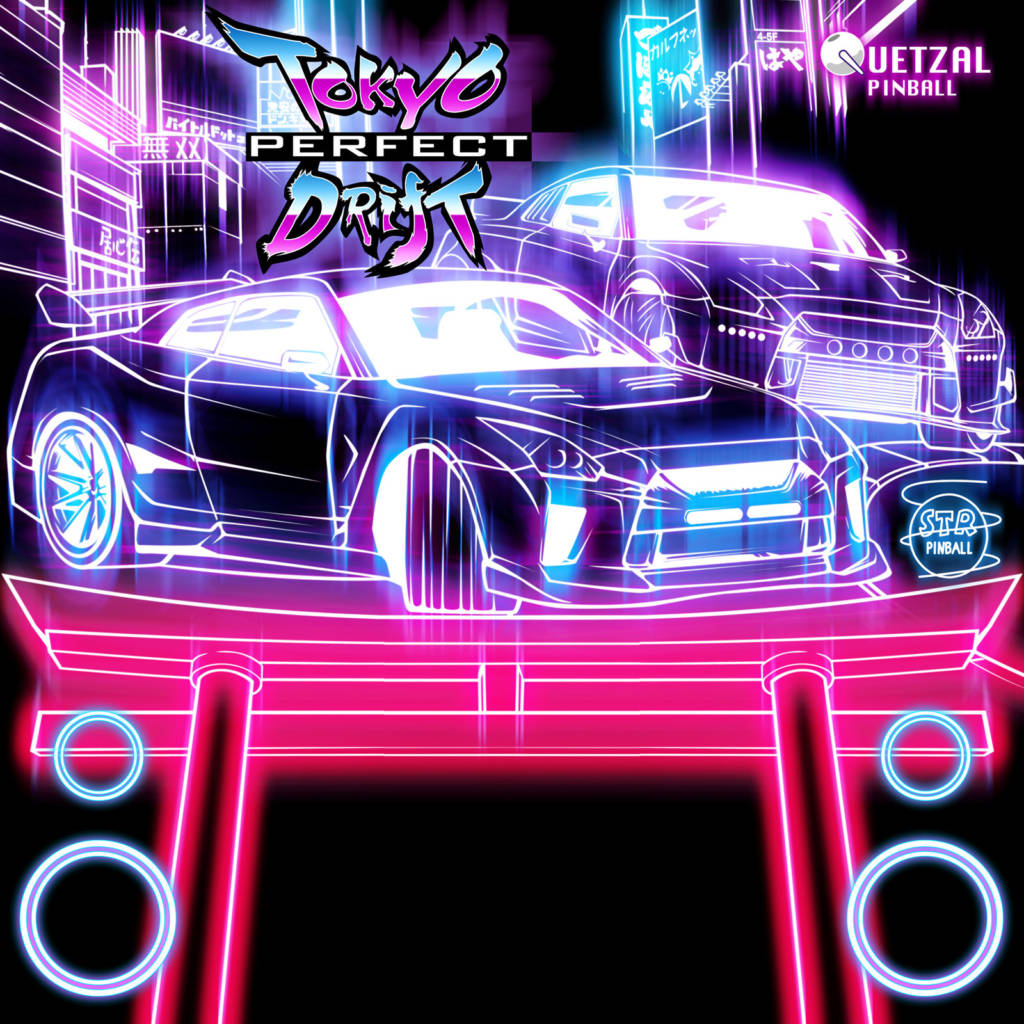 The second 'glowing outlines' design