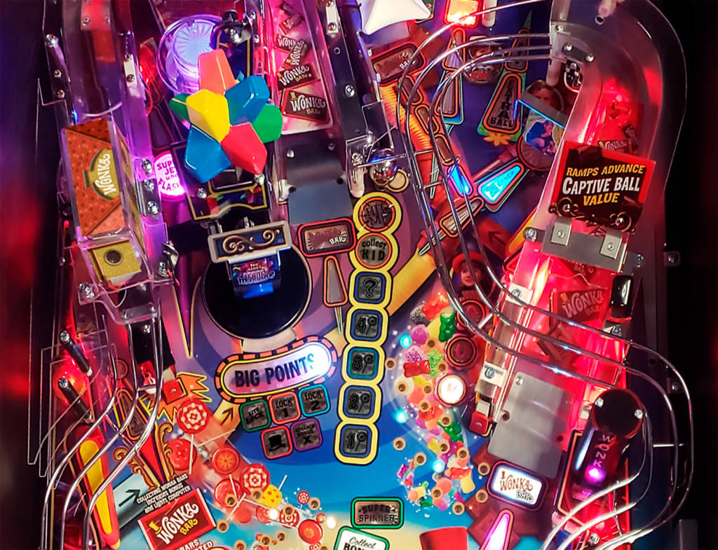 The upper-middle of the playfield