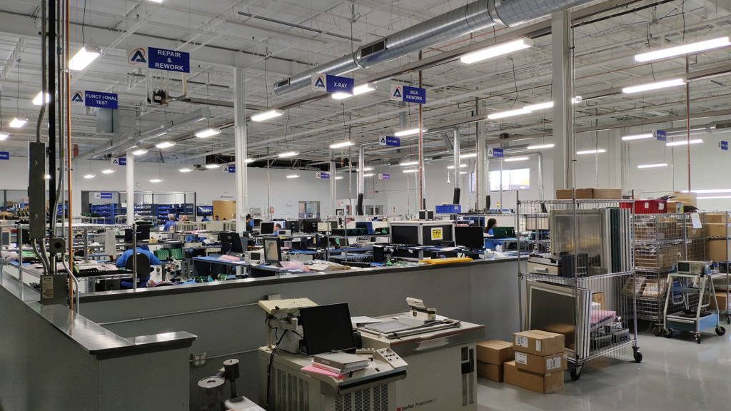 An overview of the Aimtron manufacturing facility - they also have design offices in the same building