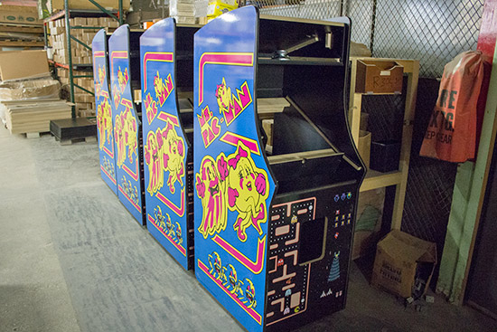 Ms. Pac-Man and Galaga combo cabinets