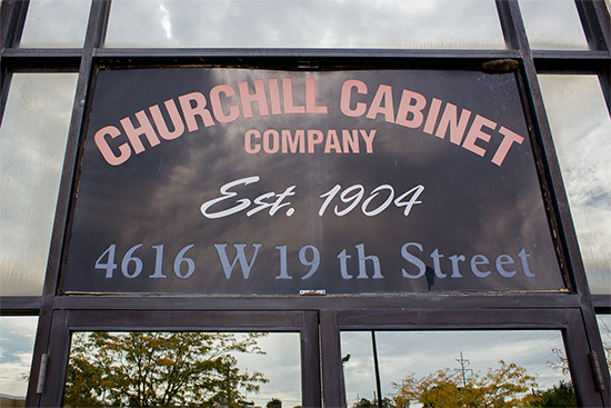 The Churchill Cabinet Company factory in Chicago