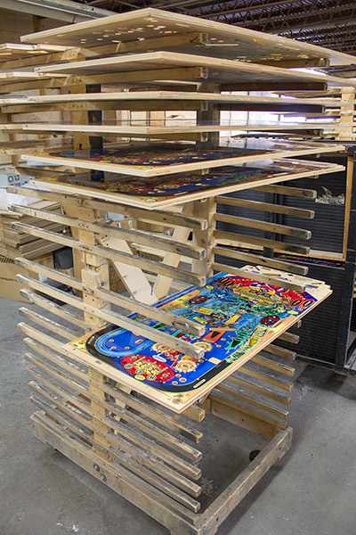 Drying racks for playfields