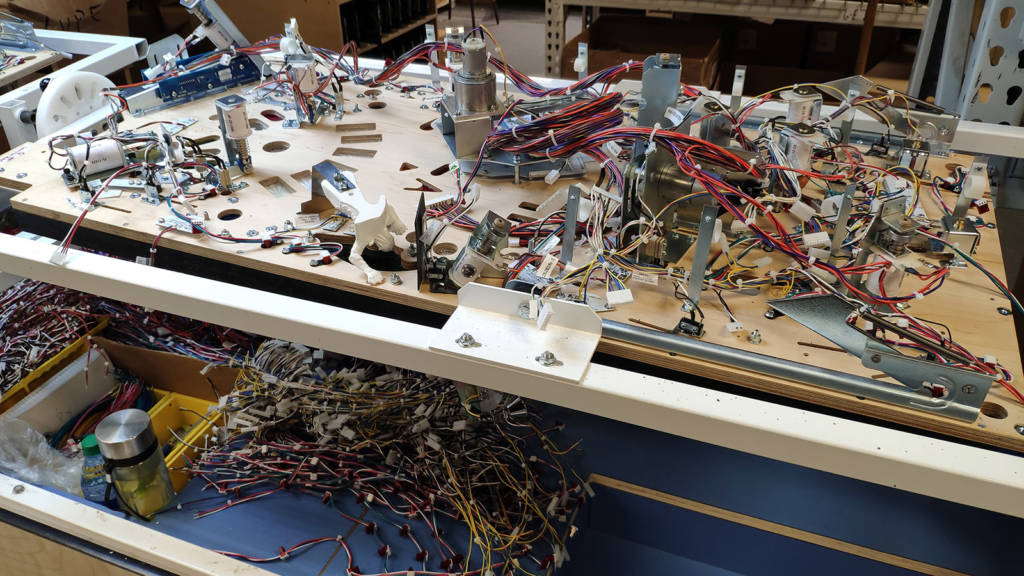 Some of the wiring looms are added