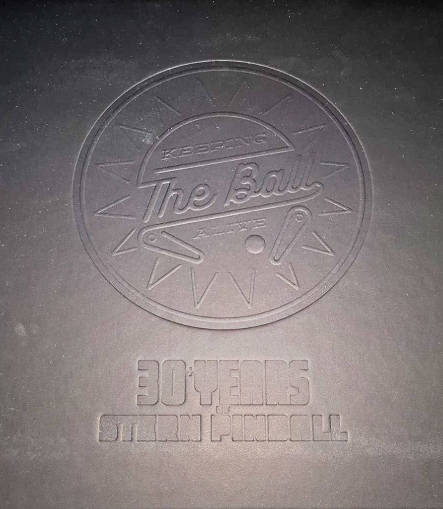 The embossed front cover under the dust jacket