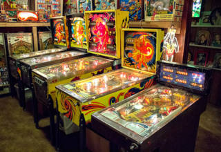 Games at the Lone Star Pinball Museum