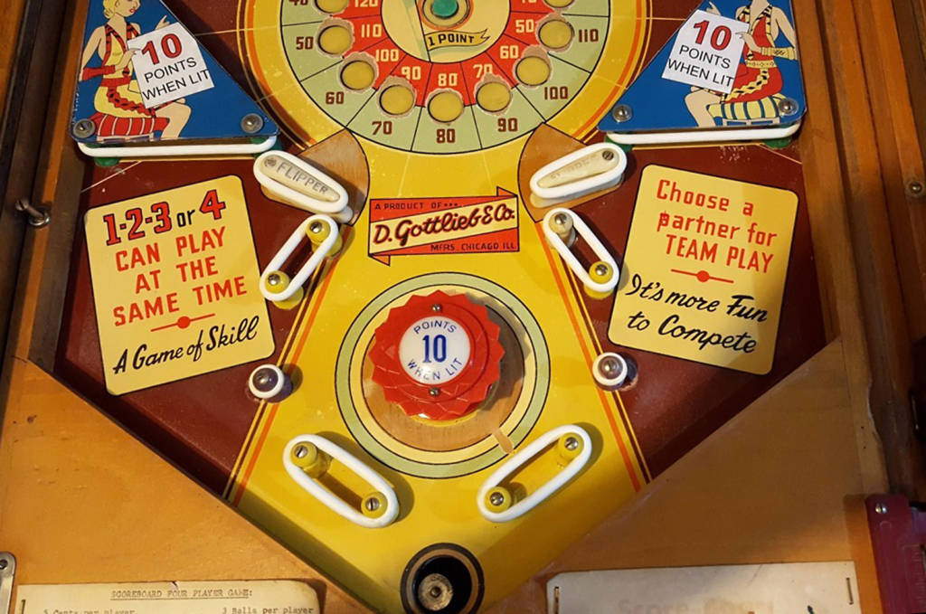 Lower playfield of Score-Board (Gottlieb, 1956) Photo: author