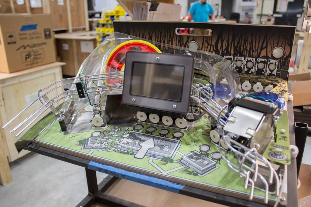 A complete Lexy Lightspeed playfield module