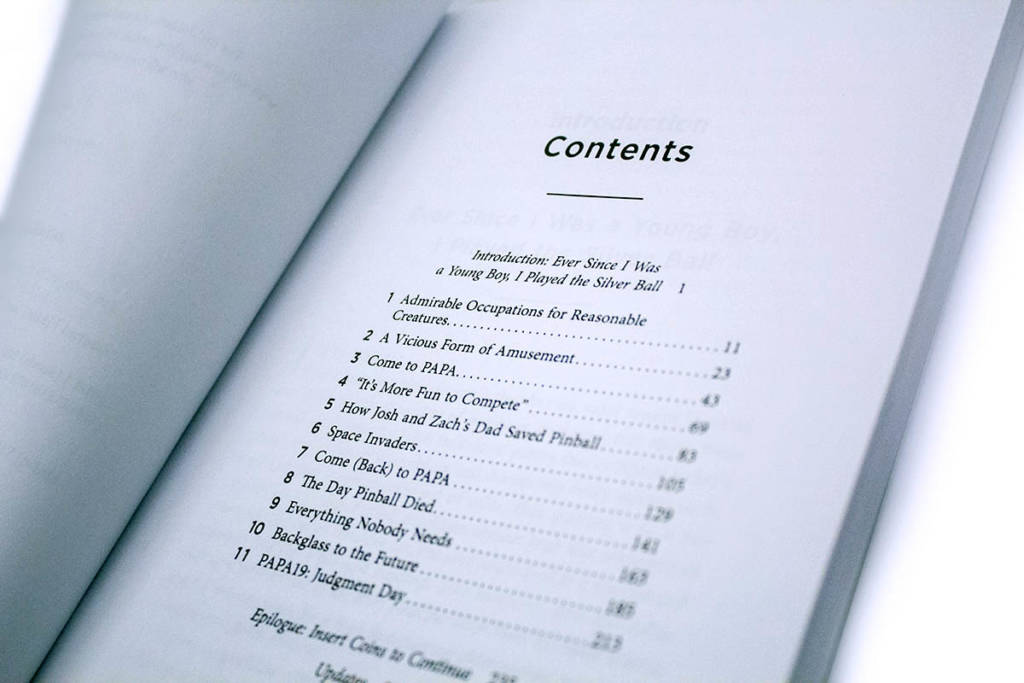 The table of contents