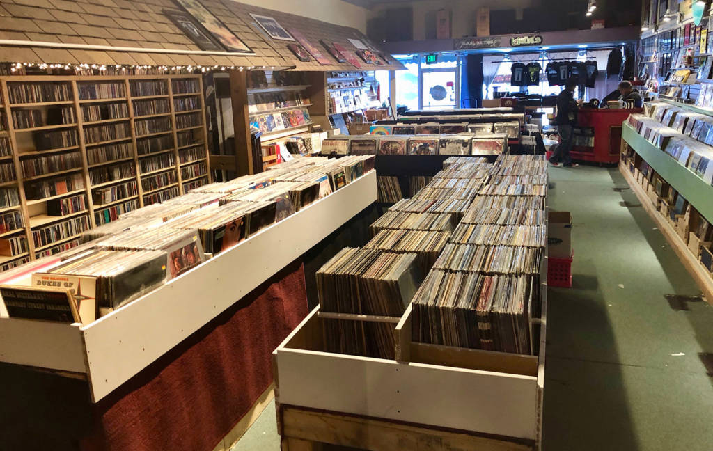 Some of the vinyl at Siren Records