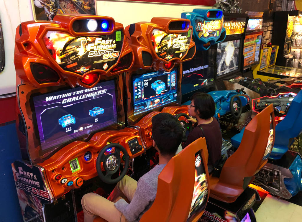 Some of the sit-down driving games
