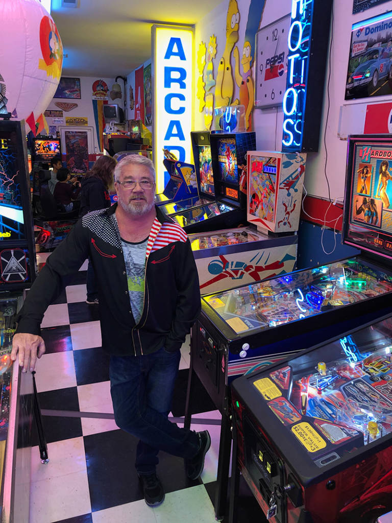 Donald with his arcade