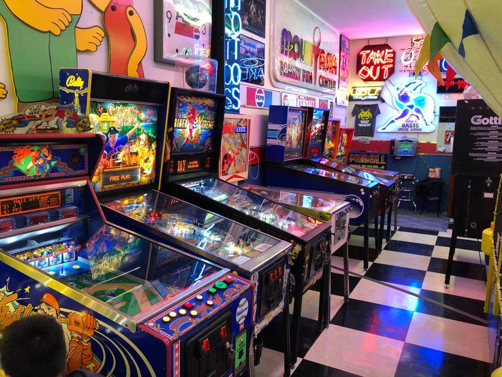 Some of the many games at Oasis Arcade AirBnB
