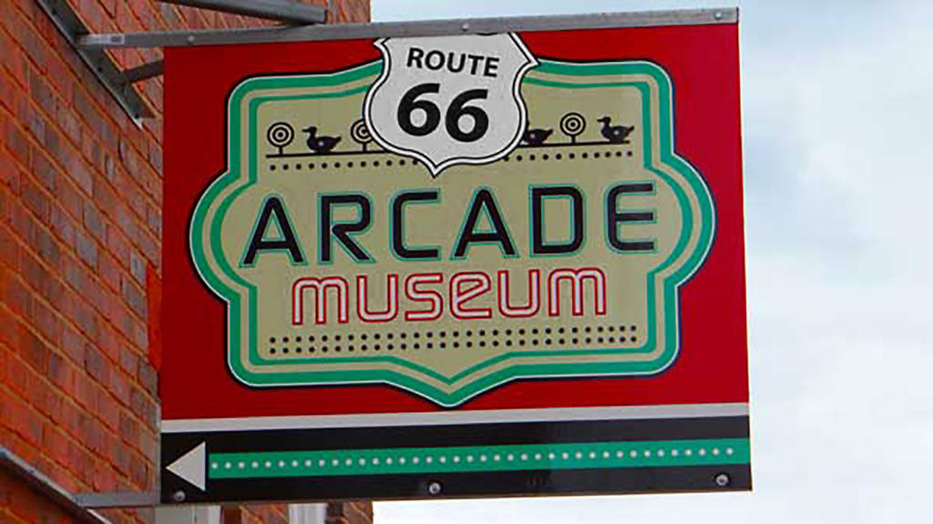 The Route 66 Arcade Museum sign